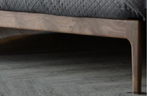 تخت خواب چوبی سبک معاصر