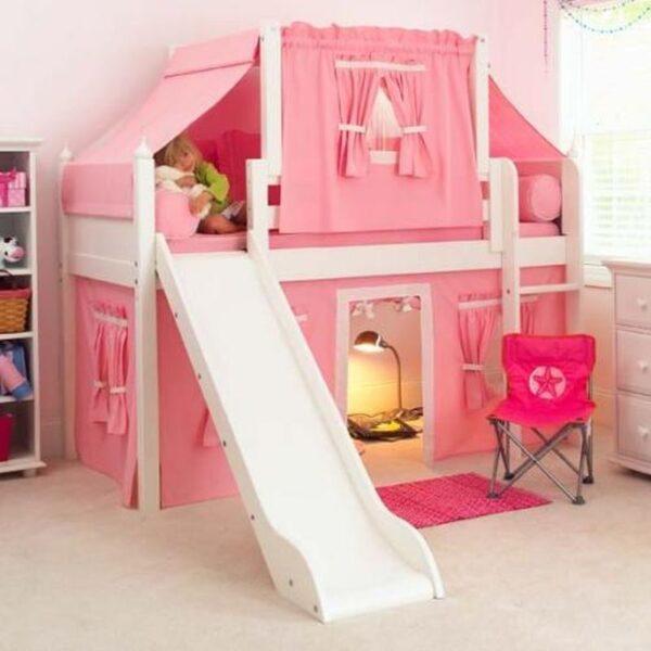 تخت خواب دو طبقه چوبی برای کودک