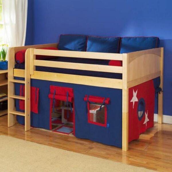تخت خواب دو طبقه چوبی کودکان