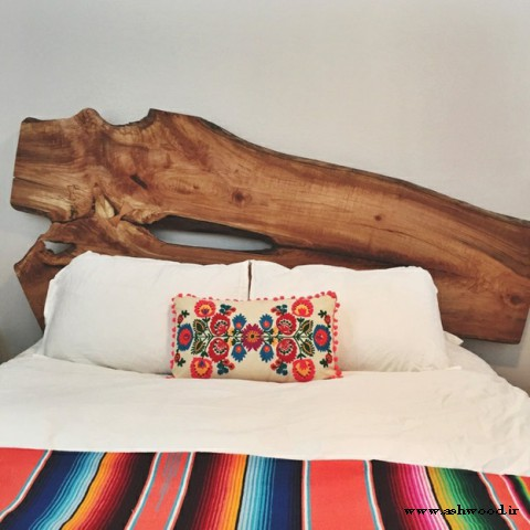 مدل تخت خواب چوبی ,  هدبرد تخت خواب تمام چوب