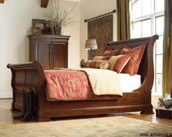 دکوراسیون اتاق خواب , تخت خواب و سرویس خواب چوبی