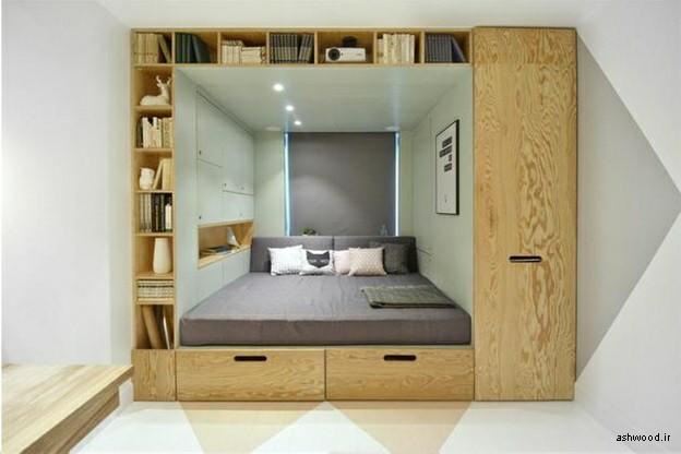 مدل تخت خواب چوبی , دکوراسیون اتاق خواب
