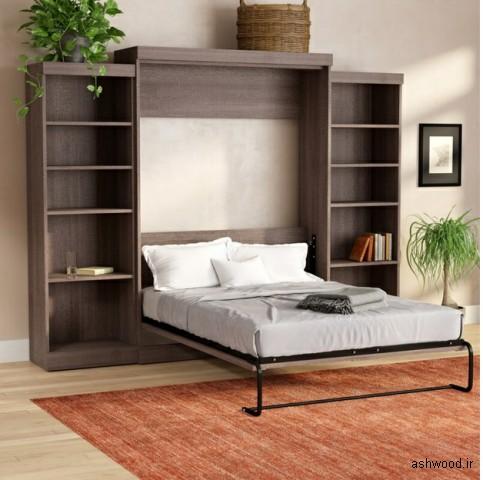 5  طرح قفسه کتابخانه ای چوبی و MDF برای تخت خواب های شما