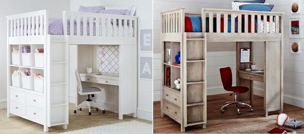 تخت خواب های چوبی جالب برای اتاق های کوچک