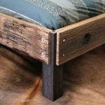 مدل تخت خواب چوب و فلز