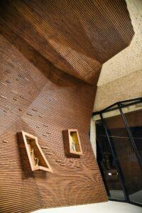 نمای ساختمان با چوب ترمووود