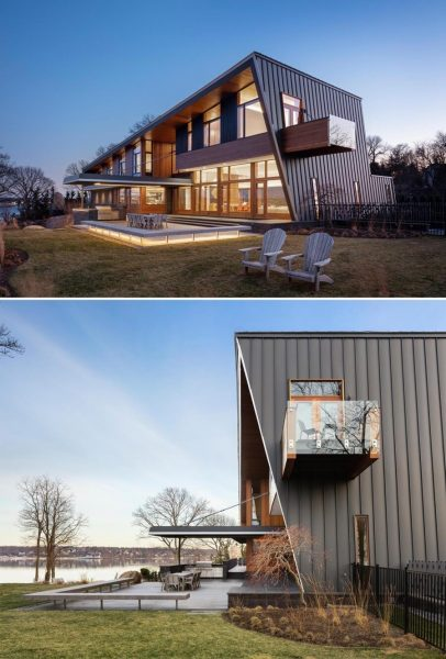 ترکیب خانه چوبی با سنگ
