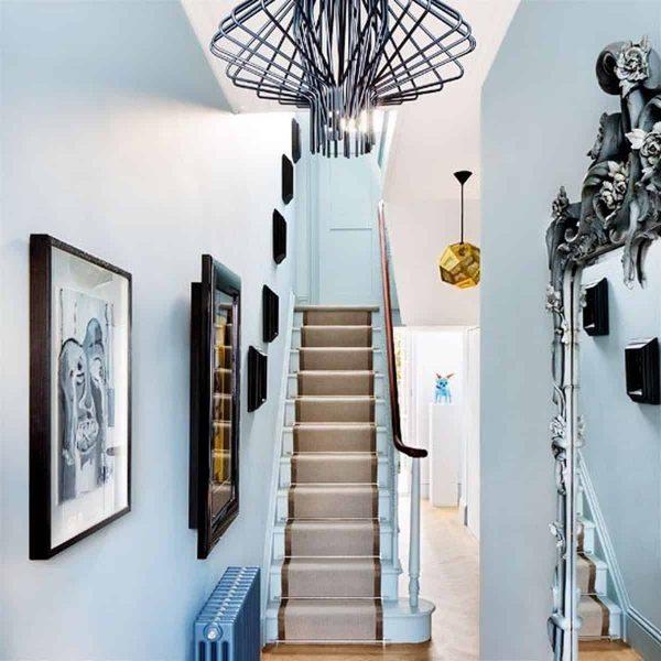 تزئین راه پله با چراغ روشنایی