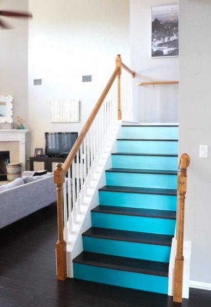 تزئین راه پله رنگی
