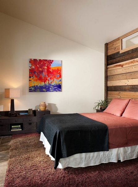 تصویری از دیوار پوش چوبی