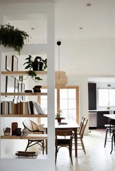 تقسیم اتاق با قفسه کتاب