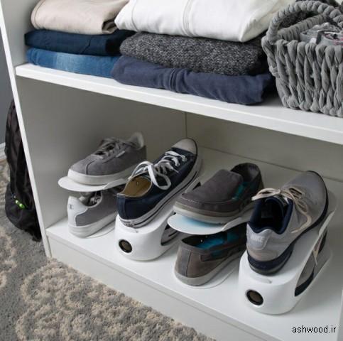 مقاله : 20 ایده هوشمندانه برای نگهداری کفش در خانه برای داشتن محیطی تمیز و مرتب