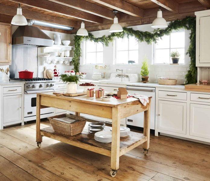جزیره چوبی در آشپزخانه