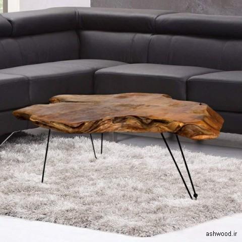 میز جلو مبلی اسلب چوب طبیعی