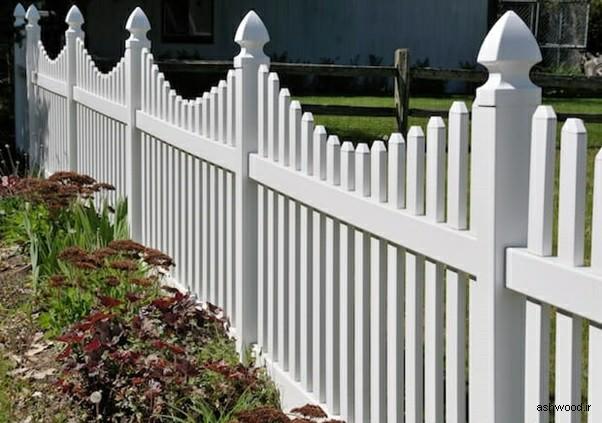 نرده و حصار چوبی حیاط