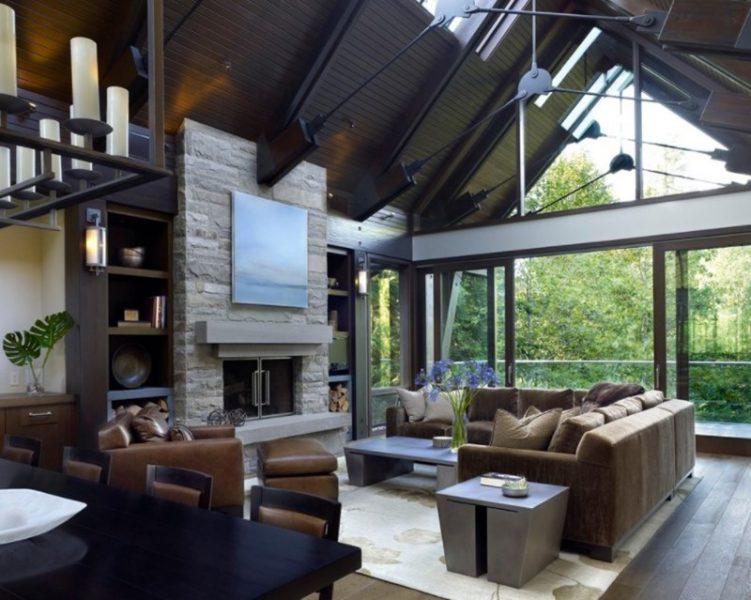 خانه ای برای تعطیلات با پنجره های بلند