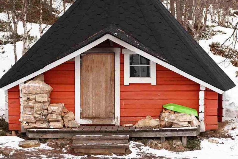 خانه های چوبی مربع