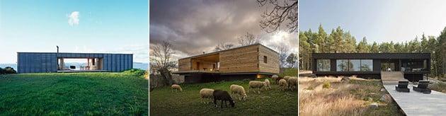 خانه های چوبی مستطیل شکل