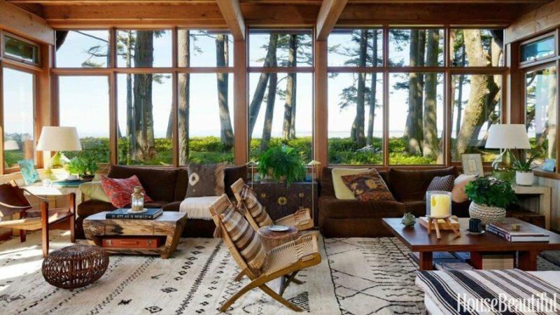 خانه چوبی در شمال غربی اقیانوس آرام