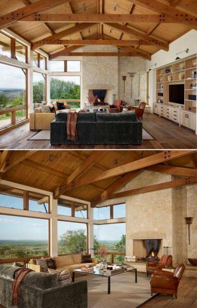 خانه چوبی مزرعه تگزاس