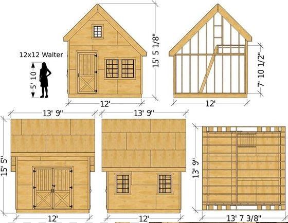 پلان و روش ساخت کلبه و ساختمان های کوچک چوبی