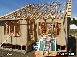 ساخت خانه چوبی