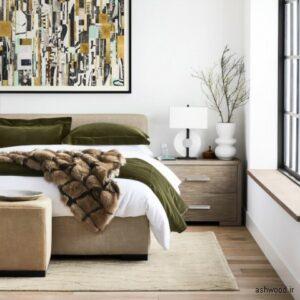 میز چوبی کنار تخت خواب, ایده های جالب میز کنار تختخواب,مبلمان کنار تخت خواب,میز تخت خواب