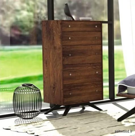 عکس دراور , میز و کنسول چوبی در دکوراسیون چوبی منزل