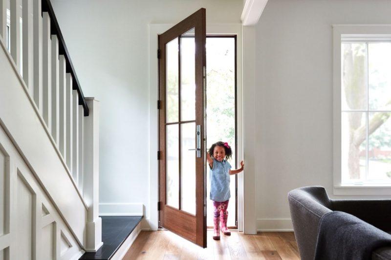 دربهای ورودی ترکیب چوب و شیشه