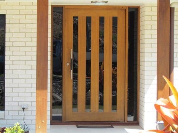 دربِ شبکه ای چوبی
