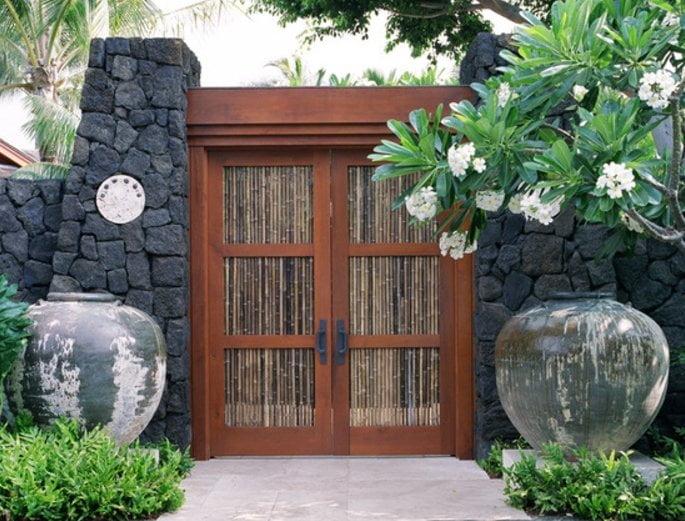درب بامبو برای داخل خانه