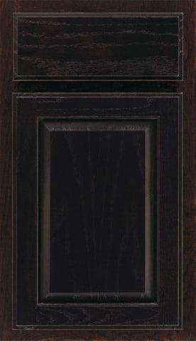 درب کابینت چوب بلوط رنگ مشکی , قیمت درب کابینت