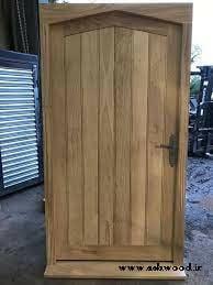 ایده درب چوب بلوط , درب چوبی روکش بلوط