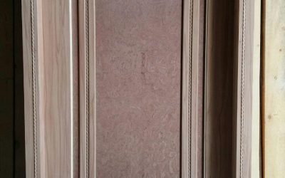 درب چوبی اتاقی روکش گردو