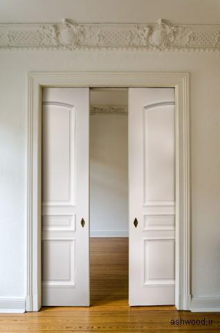 درب چوبی کشویی پلور