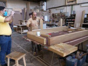 طراحی و ساخت درب تمام چوب ساج