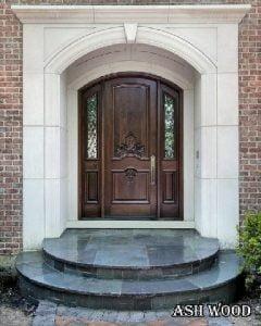 عکس درب چوبی قوس دار هلالی