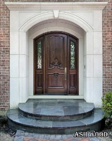 بهترین ایده های درب ورودی قوس دار, درب چوبی هلالی