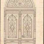 ایده و مدل جدید درب ورودی چوبی ساختمانی , درب کلاسیک و لوکس چوبی, درب لابی