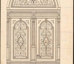 مدل دکوراسیون سبک کلاسیک در انواع درب چوبی اتاق و درب کابینت آشپزخانه
