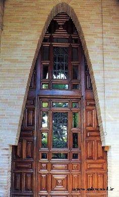 ساخت درب لابی , ایده درب چوبی لابی