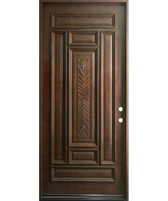 درب چوبی با قاب منبت کاری شده