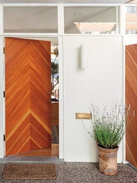 درب های طرح چوب