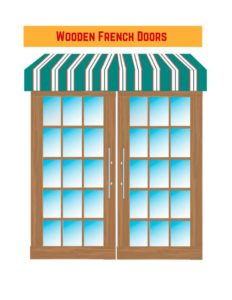 درب های چوبی فرانسوی به عنوان درب های خارجی