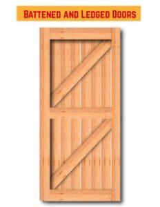درب های چوبی و لبه دار