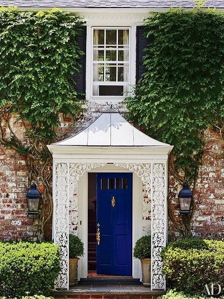درب ورودی آبی زیبا