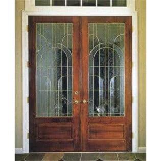 درب ورودی چوبی, درب ورودی ساختمان مسکونی