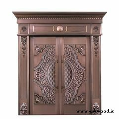 درب چوبی لوکس و منیت کاری شده تمام چوب سفارشی