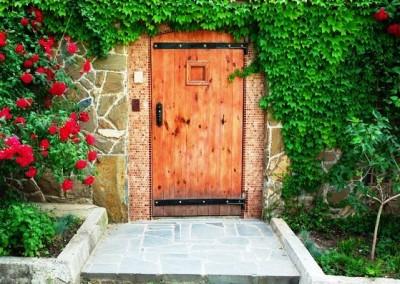 درب تمام چوب الوار