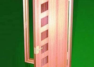 درب و چهار چوب چوبی